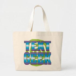Geek v3 des textes sacs en toile