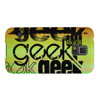 Geek; Vibrant Green, Orange, & Yellow Cases For Galaxy S5