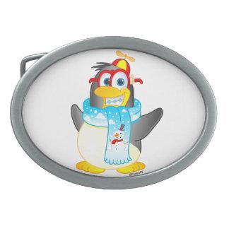 Geek Wobble Penguin Belt Buckle