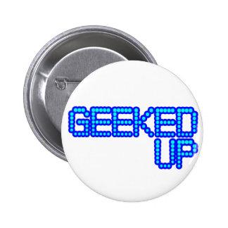 GEEKED UP blue jerkin jerk dance guys an girls 2 Inch Round Button