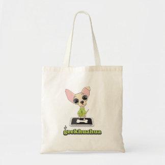 Geekhuahua, chien mignon de geek sac en toile budget