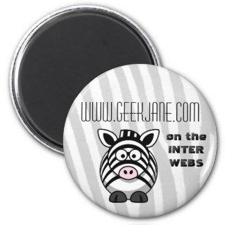 GeekJane.com Button Magnet