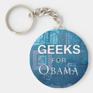 Geeks for Obama Keychain