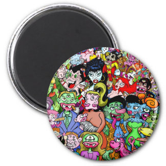 Geeks & Freaks 2 Inch Round Magnet