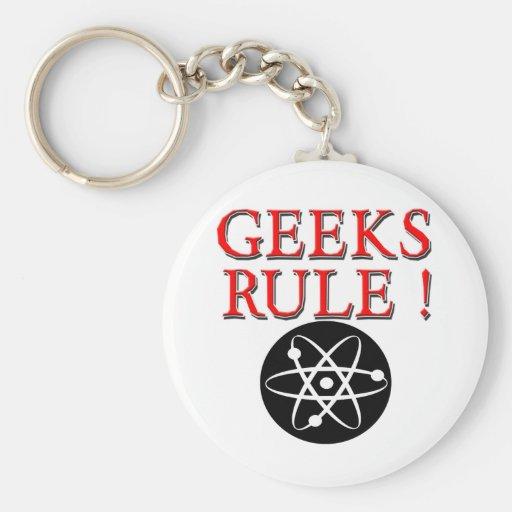 Geeks Rule !  with Atom Keychain