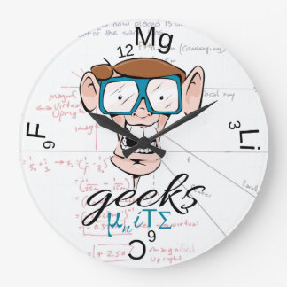 Geeks Unite Large Clock