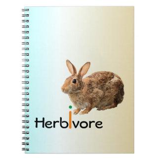 Geeky Adorable Vegan Wild Bunny Rabbit Blue Notebooks