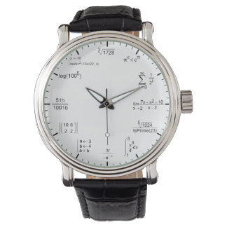 geeky and nerdy math formula equations watch