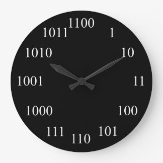 Geeky Binary Number System Wall Clocks
