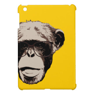 Geeky Chimp in Glasses Yellow iPad Mini Case