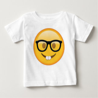 Geeky Emoji Smiley Face Baby T-Shirt