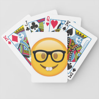 Geeky Emoji Smiley Face Bicycle Playing Cards