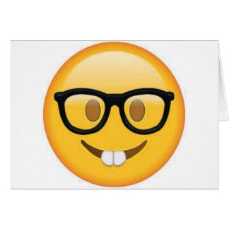 Geeky Emoji Smiley Face Card