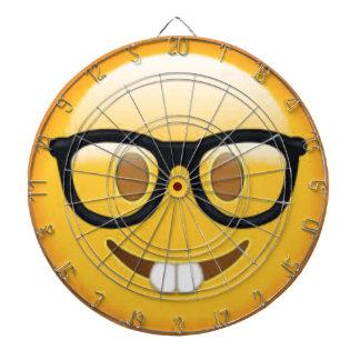 Geeky Emoji Smiley Face Dartboard