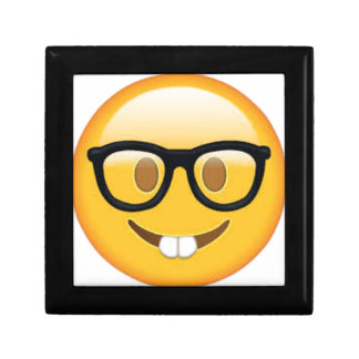 Geeky Emoji Smiley Face Gift Box
