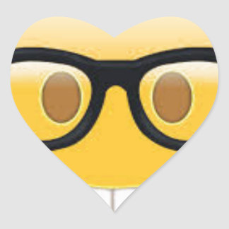 Geeky Emoji Smiley Face Heart Sticker
