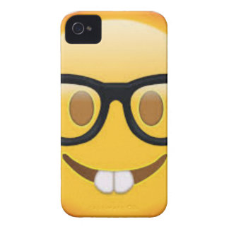 Geeky Emoji Smiley Face iPhone 4 Covers