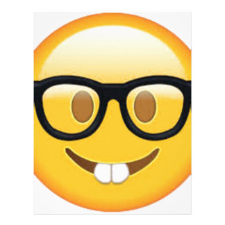 Geeky Emoji Smiley Face Letterhead