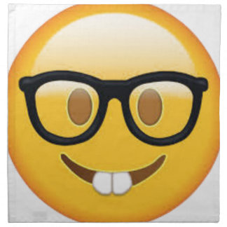 Geeky Emoji Smiley Face Napkin