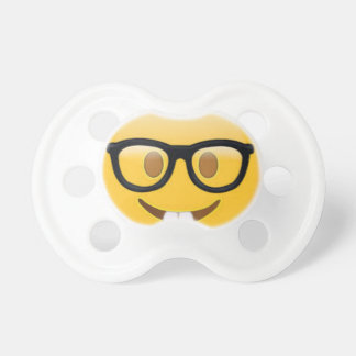 Geeky Emoji Smiley Face Pacifier