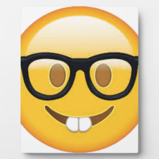 Geeky Emoji Smiley Face Plaque