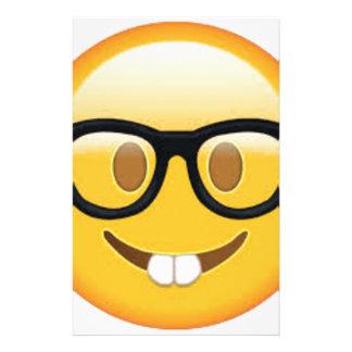 Geeky Emoji Smiley Face Stationery