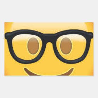 Geeky Emoji Smiley Face Sticker