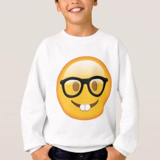 Geeky Emoji Smiley Face Sweatshirt