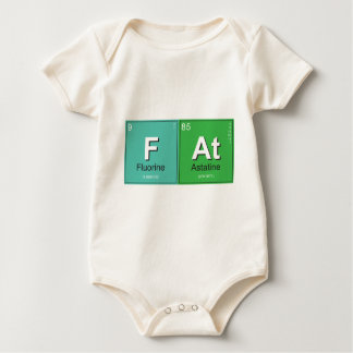 Geeky Fat Periodic Elements Baby Bodysuit