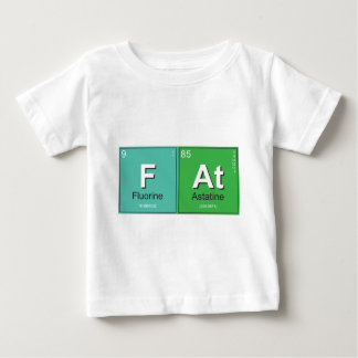 Geeky Fat Periodic Elements Baby T-Shirt