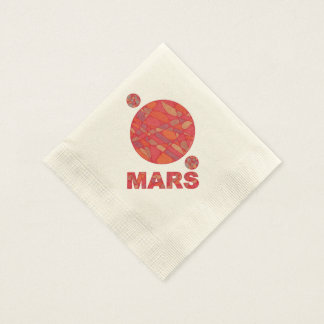Geeky Fun Mars The Red Planet Paper Party Napkin Disposable Napkin