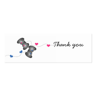 Geeky Gamer Wedding Thank You Mini Cards Business Card