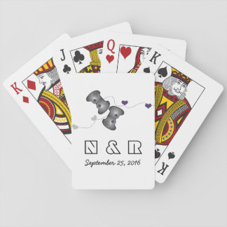 Geeky Gamers Wedding Playing Cards Silver Purple