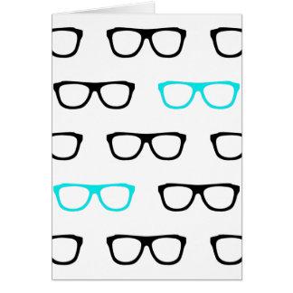 geeky glasses blue geek card
