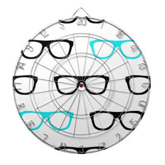 geeky glasses blue geek dartboard