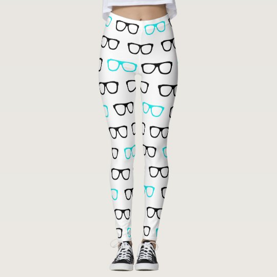 geeky glasses blue geek leggings