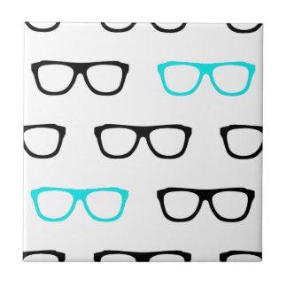 geeky glasses blue geek tile