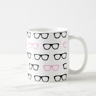 geeky glasses pink geek coffee mug