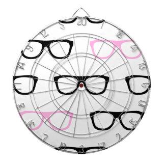 geeky glasses pink geek dartboard