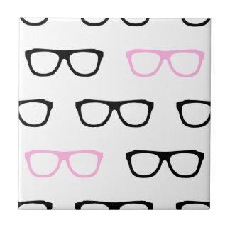 geeky glasses pink geek tiles