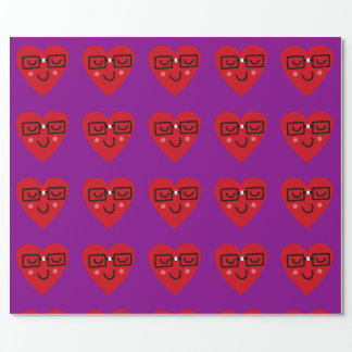 Geeky heart wrapping pape wrapping paper