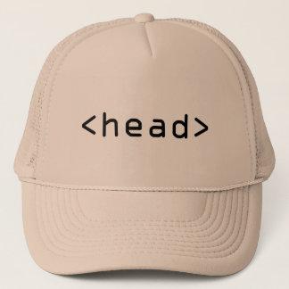 Geeky HTML <head> trucker cap / hat