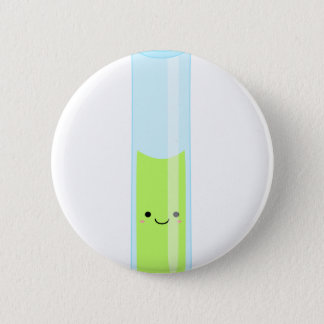 Geeky kawaii test tube 2 inch round button