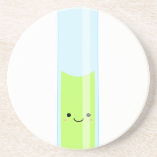 Geeky kawaii test tube coaster