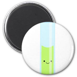 Geeky kawaii test tube magnet