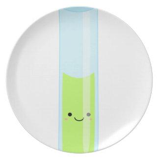 Geeky kawaii test tube plate