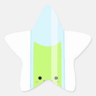 Geeky kawaii test tube star sticker