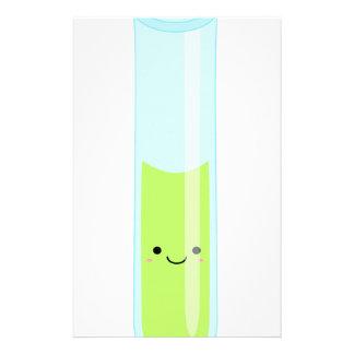 Geeky kawaii test tube stationery