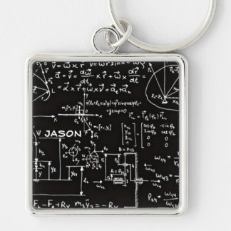Geeky Math Mathematics Personalized Keychain