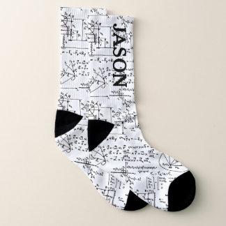 Geeky Math Mathematics Personalized Socks